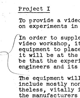 EAI Grant Application and Interim Report to the New York State Council on the Arts (1971)