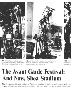 The Avant Garde Festival: And Now, Shea Stadium