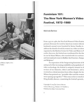 Feminism 101: The New York Women's Video Festival, 1972-1980
