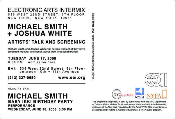 Michael Smith & Joshua White Artist Talk and Screening