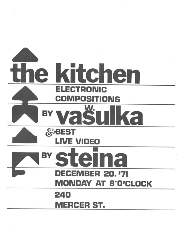 Electronic Compositions by Woody Vasulka and Best Live Video by Steina