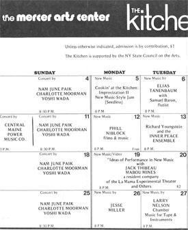 Electronic Arts Intermix Kitchen Calendar February 1973