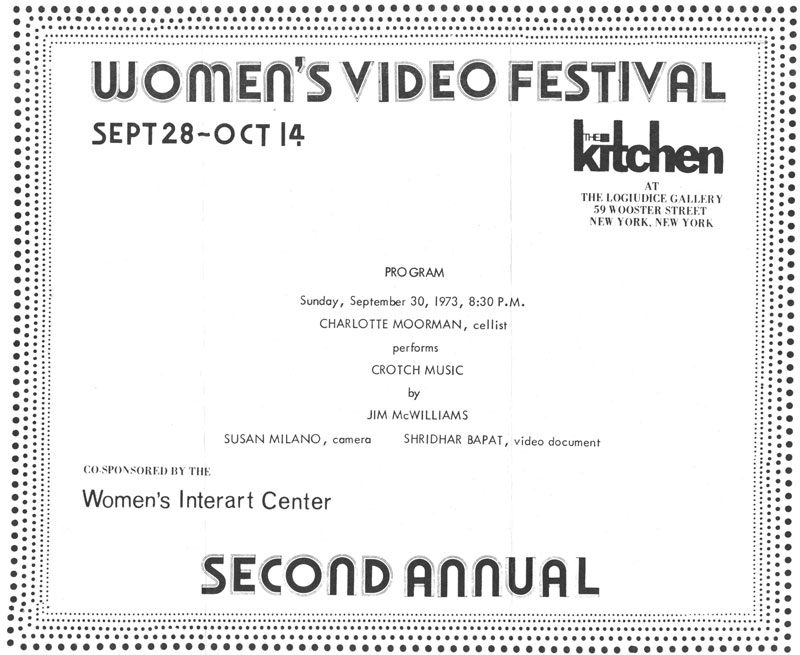 Second Annual Women's Video Festival: Charlotte Moorman performance